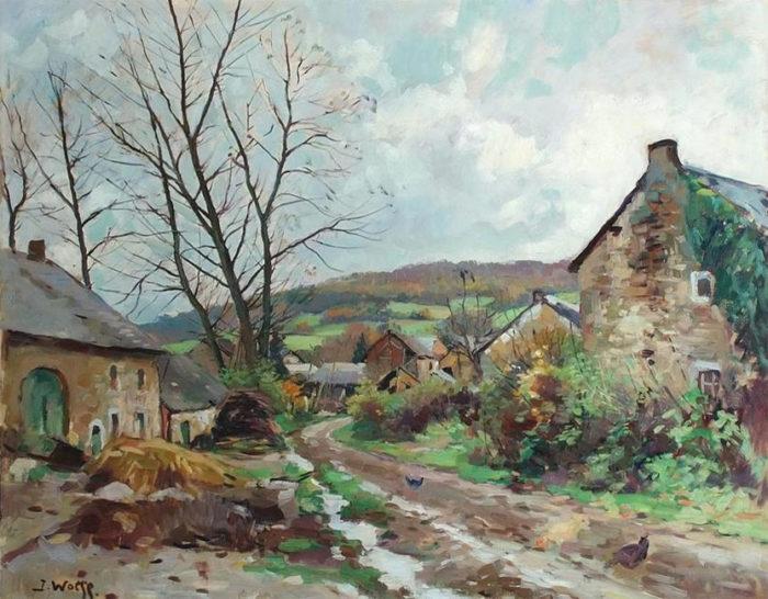 tableau de peinture de paysage