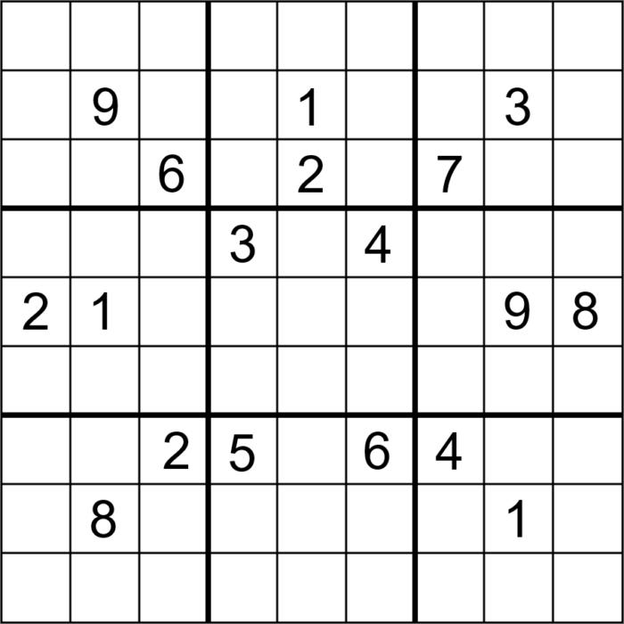 sudoku pour enfant