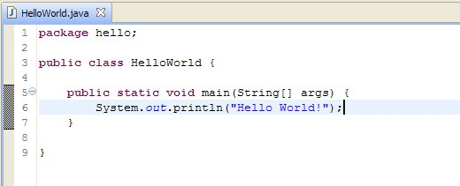 hello world java
