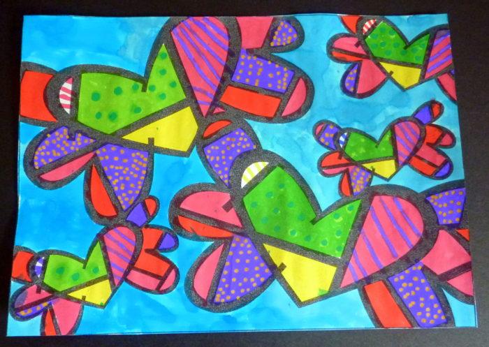 peindre des papillons