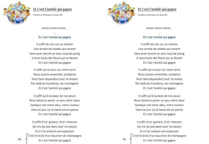 paroles chansons