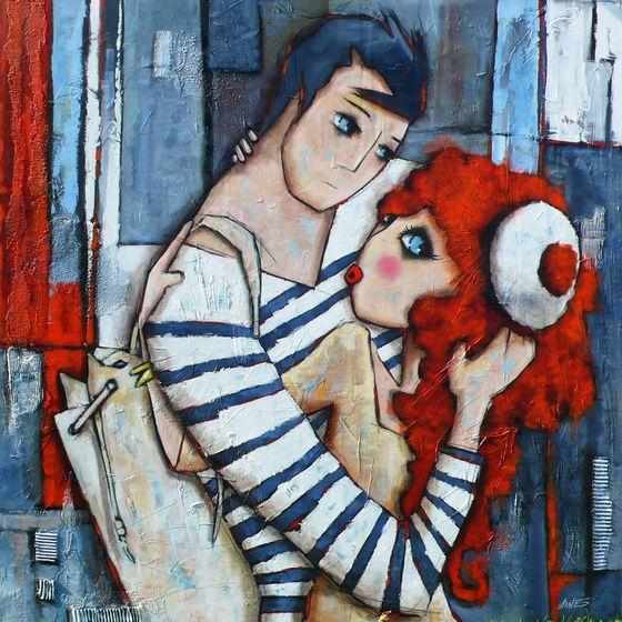 peinture moderne acrylique sur toile