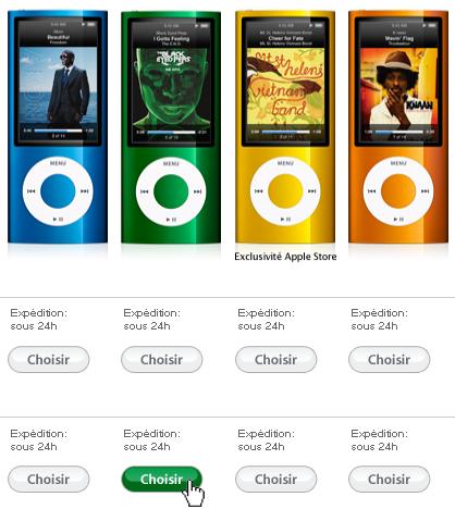 Acheter ipod nano