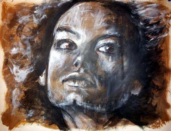 modèle tableau peinture acrylique