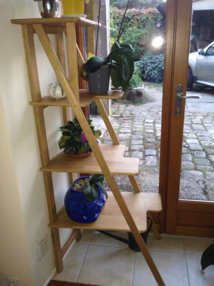 etagere angle bois