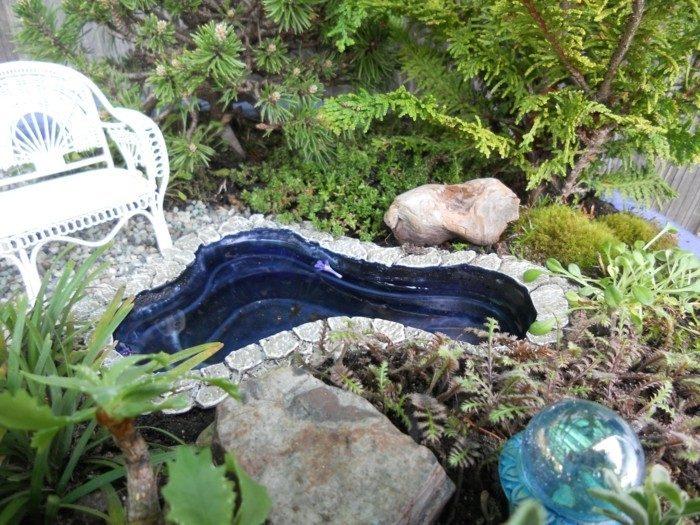 jardin zen miniature avec fontaine