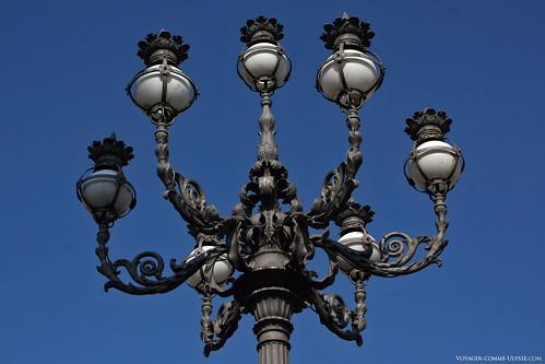 lampadaire baroque