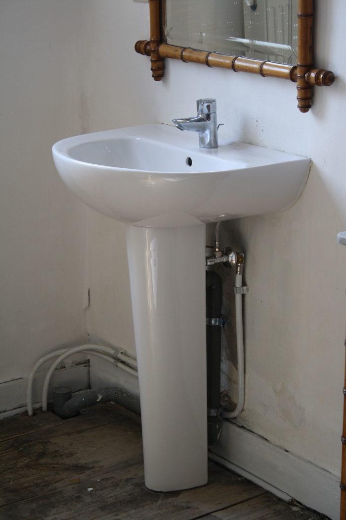 lavabo à colonne