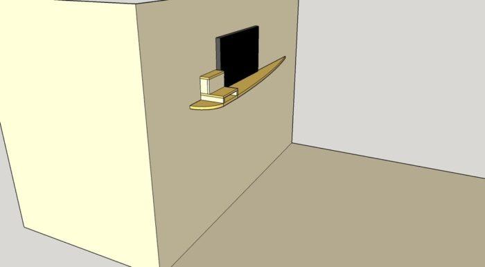 meuble suspendu design
