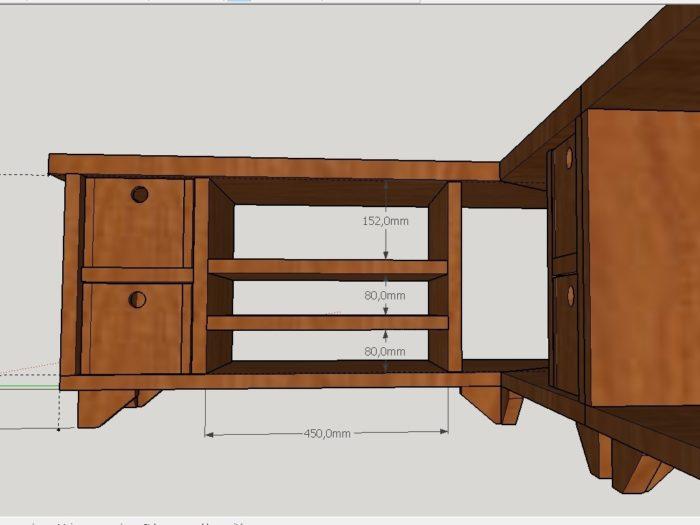 meuble tv d angle bois