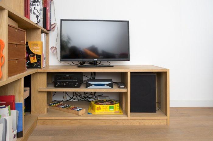 meuble tv d angle en bois