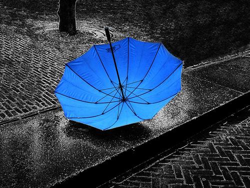 parasol bleu