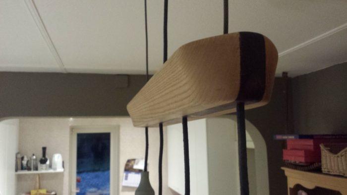 plafonnier en bois