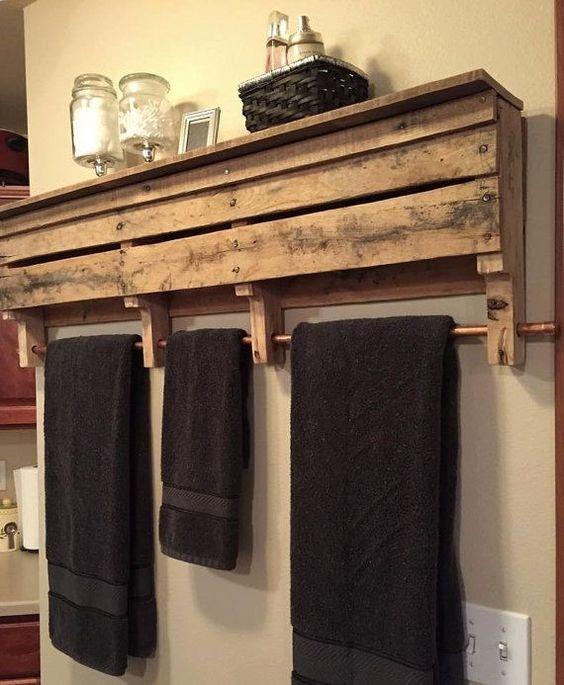 porte serviette salle de bain design