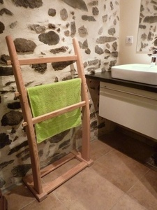 porte serviettes bois