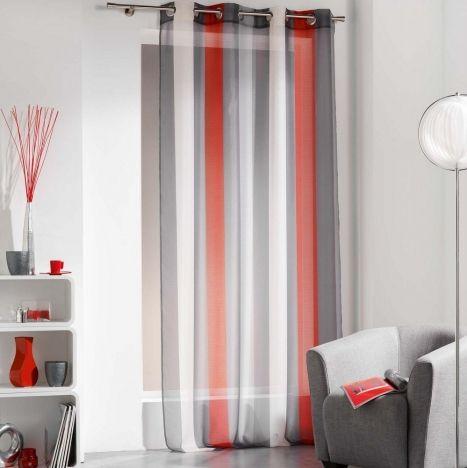 rideaux pour salon gris