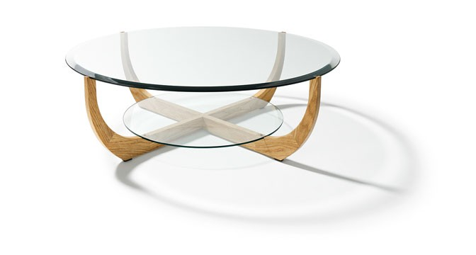 table basse design en verre