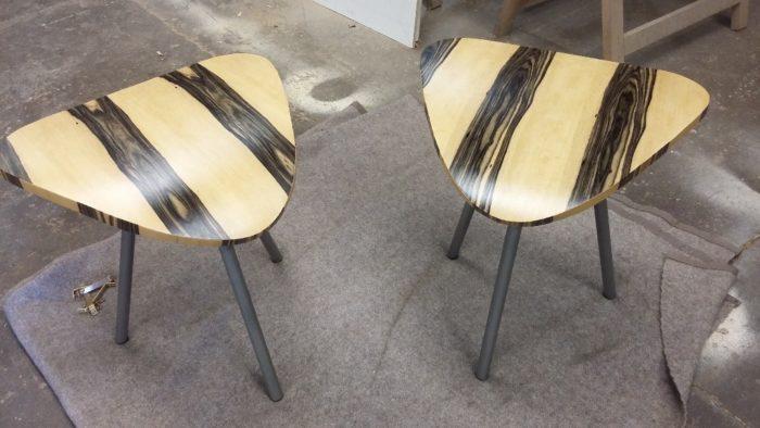 table basse verre et blanc