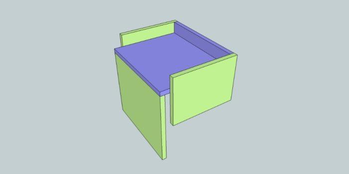 table chevet mezzanine