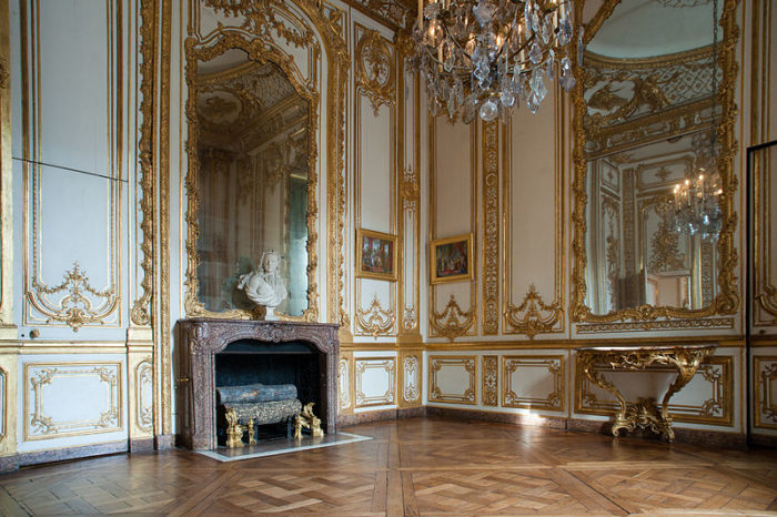 commode baroque argent