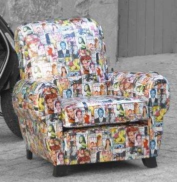 fauteuils club tissu