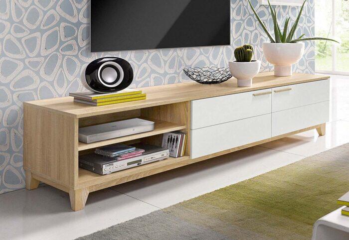 meubles bois blanc vieilli
